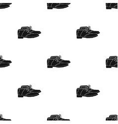 Golfer shoesgolf club single icon in black style vector