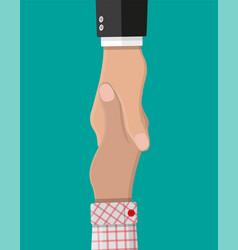handshake between two people shaking hands vector image