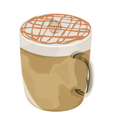 hot caramel macchiato coffee icon vector image vector image