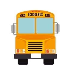 icon bus school isolated vector image