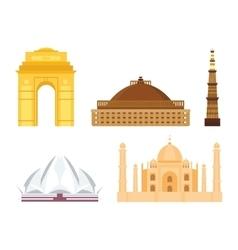 India landmark taj mahal travel vector