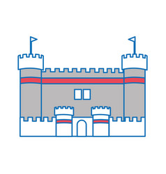 Isolated castle design vector
