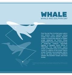 Isolated whale ocean mammal vector
