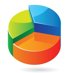 Isometric icon graph vector image
