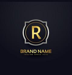 Letter r luxury logo design vector