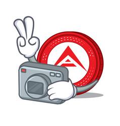 Photographer ark coin character cartoon vector