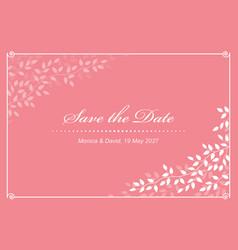 pink wedding invitation vector image