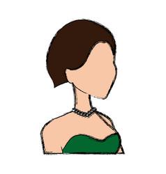 portrait bride character wedding dress image vector image