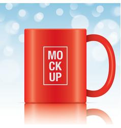 red coffee mug vector image
