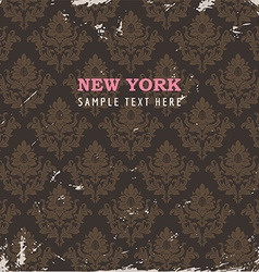 Rustic new york floral background vector