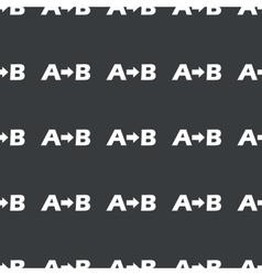 Straight black a b pattern vector