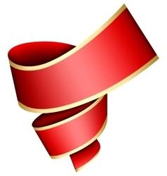 Swirl red ribbon vector