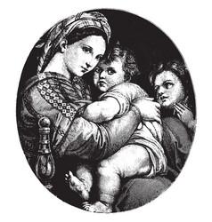 The madonna della sedi in the pitti palace vector