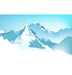 Winter mountains vector