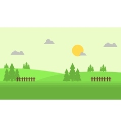 Flat of hill landscape vector