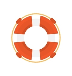 lifebuoy flat icon vector image