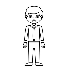 Man silhouette with formal shirt and tie vector