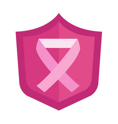Cancer ribbon icon vector