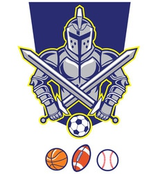 titan mascot with various sport ball vector image