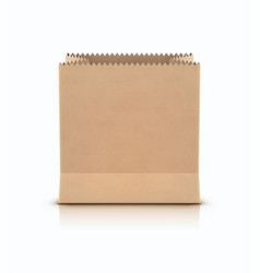 Brown shopping paper bag vector