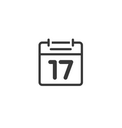 Calendar icon line isolated outline black vector