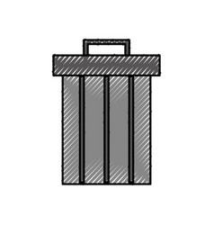 trash can recycle app web button icon vector image