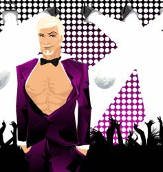 nightclub guy vector image