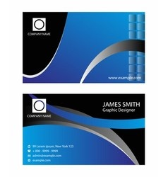 Professional corporate business card design vector