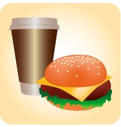 Hamburger cup vector