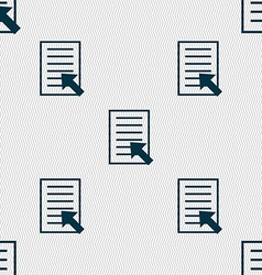 Text file sign icon file document symbol seamless vector