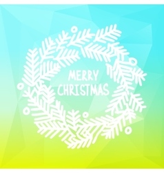 Square design with christmas wreath on gradient vector