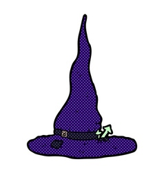 Comic cartoon spooky witches hat vector