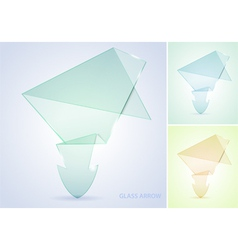 Collect glass arrow vector