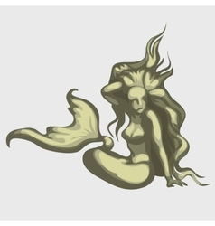 Mermaid sculpture image vector