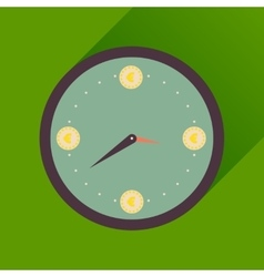 Flat icon with long shadow time is money vector