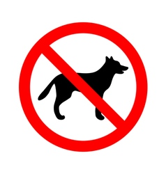 No dogs allowed sign vector