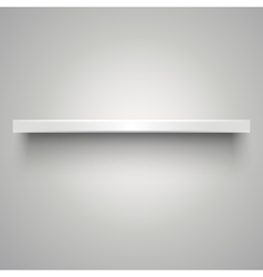 Empty white shelve vector image