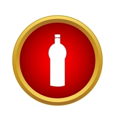 Water bottle icon simple style vector