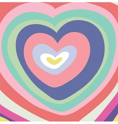 abstraction-heart vector image vector image