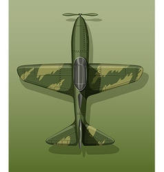 Army plane on green vector