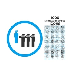Army squad rounded icon with 1000 bonus icons vector