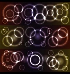 bokeh glowing circles vector image vector image