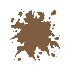 Brown splash color paint abstract design vector