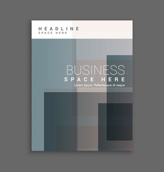 Business cover page template design vector