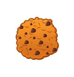 Cookies with chocolate drops oatmeal biscuits on vector