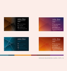 Creative development of business cards in a differ vector