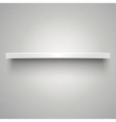 Empty white shelve vector image vector image