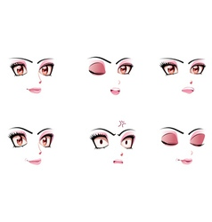 Facial Expression of Woman2 vector image vector image