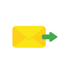 Flat design concept of send message or email vector