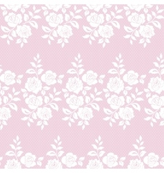 Floral lace pattern vector